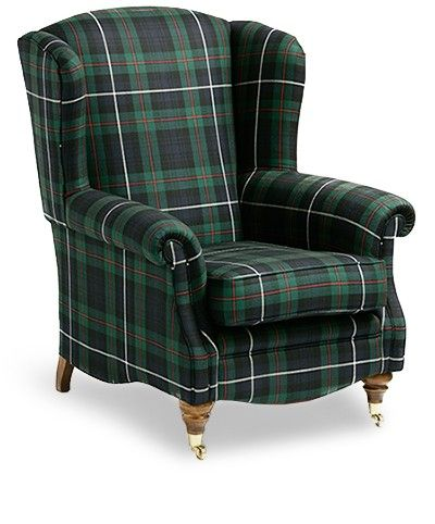 Tartan Armchairs - sc- This would really work well with my (dream) black and white toile accessorized bedroom decor.