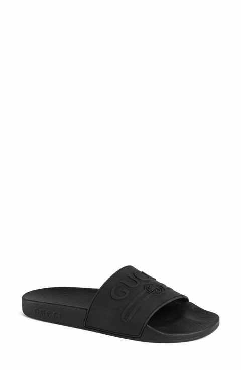 82773ea1d Gucci Pursuit Logo Slide Sandal (Women)