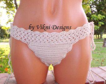 Beige Crochet Bikini Set/Brazilian Bikini by ReyyanCrochet on Etsy