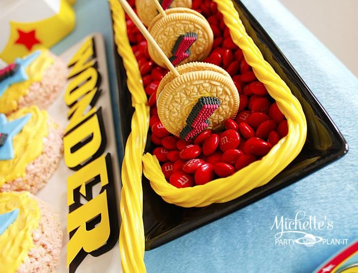 CUTE! Lasso the cookies in! Wonder Woman Party with So Many Awesome Ideas via Kara's Party Ideas | KarasPartyIdeas.com #Superhero #Party #Ideas #Supplies #wonderwomanparty #lasso