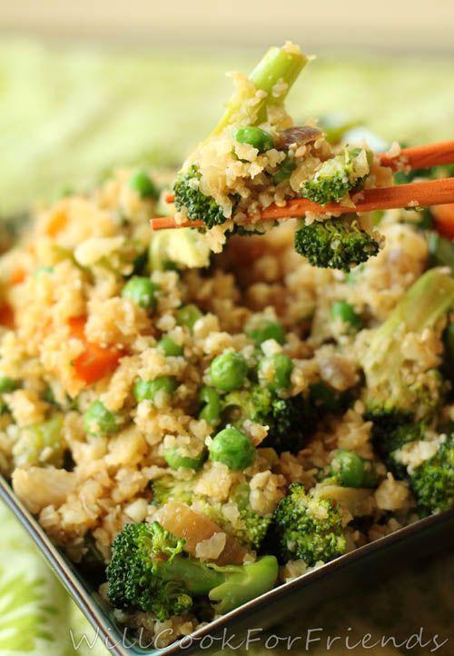 How clever- cauliflower instead of rice! Cauliflower Stir ...