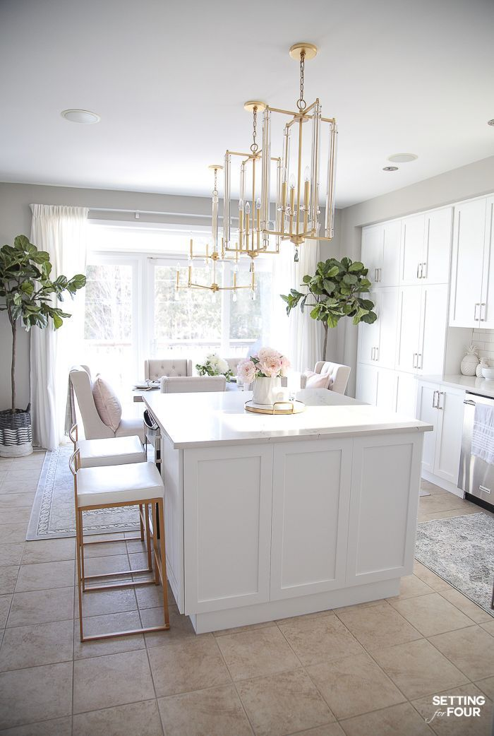 Light And Bright Spring Kitchen Decor Ideas Kitchen Island Decor