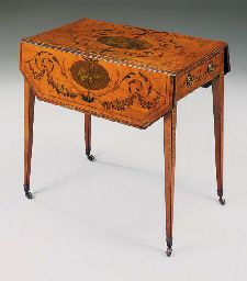 A SATINWOOD AND DECORATED PEMBROKE TABLE, 19TH CENTURYhttp://www.christies.com/