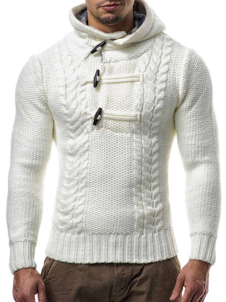 BALANDI Herren Strickpullover Strick Pullover Jacke Hoodie Hoody: Amazon.de: Bekleidung