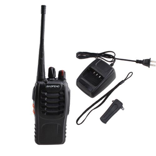 AGPtek® Walkie Talkie 2-Way 16CH 3W Radios Transceiver Handheld Interphone Intercom BF-888S W/built-in 1500MAh Li-ion battery- Support 8 hours by AGPtek. $25.49. This BF-888S Walkie Talkie is a great long range Walkie Talkie (handheld transceiver) for you! It can bring huge convenience for you to communicate with each other in a long range about 6km.   General Product Information: Frequency Range : UHF 400-470MHz Channel Capacity: 16  Channel Spacing: 25KHz Operated Voltage...