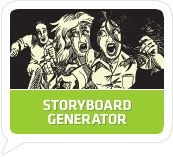 Storyboard Generator gives users the options to create their own scripts or choose one from the collection. The platform creates a video from the script which the user can save and share on social media.