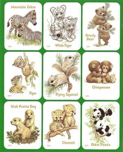 One Sheet Stickers Animals Forest Animal Jungle Zebra