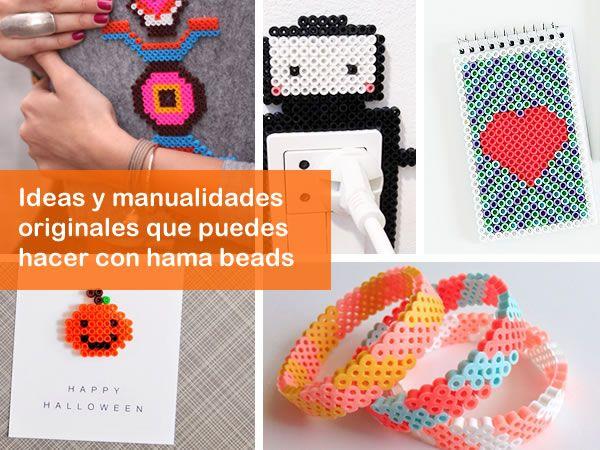 Ideas para hacer manualidades con hama beads ¿Qué son los Hama Beads? Los beads o perler son unos pequeñas cuentas o cilindros huecos de plástico con los que puedes hacer un montón de figuras y diseños, los hay de varios tamaños y multitud de colores. Sirven para hacer composiciones similares al pixelart. Hama es una de las marcas más conocidas. ¿Donde comprar los Hama Beads? Puedes comprarlos online en muchos sitios o buscar alguna tienda de tu ciudad que los tenga, nosotros hemos comprado…