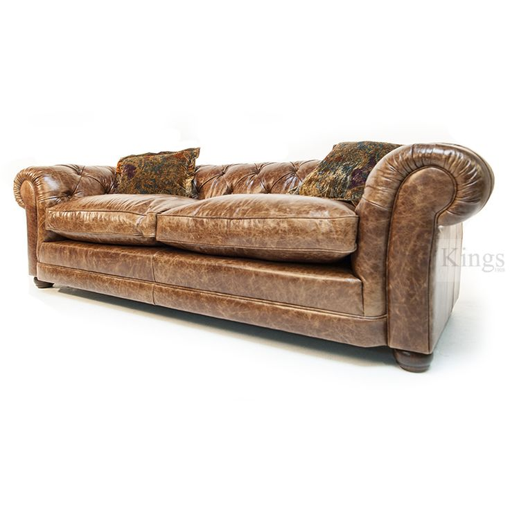 Contrast Tetrad Norton Chesterfield Sofa deep buttoned sofa in vintage hide http://www.kingsinteriors.co.uk