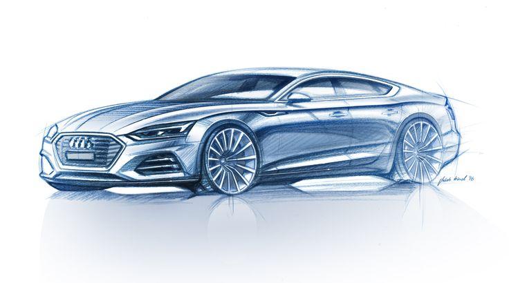 2017 Audi A5 Sportback Official Sketch Transportation