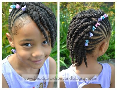 How+to+Do+Side+Corn+Rows | Beads, Braids and Beyond: Side Cornrows with Two Strand Twists