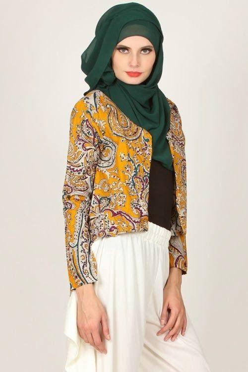 Model Baju Kerja Batik Muslim Modern Modis
