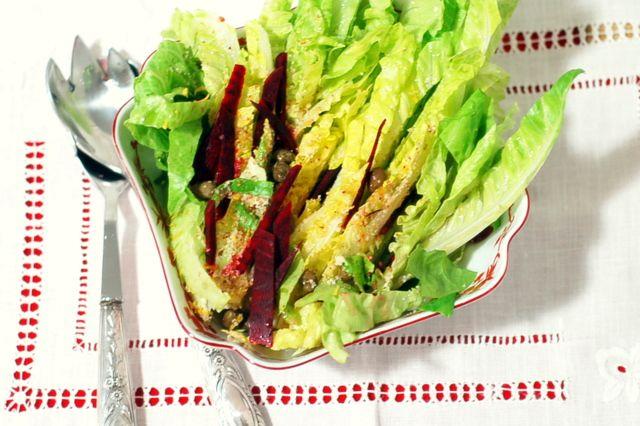 Clavel's Cook: Salada de alface romana e frutos secos