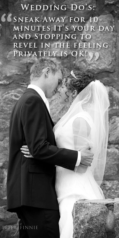 Wedding Day Tip - Sneak Away for a private moment.