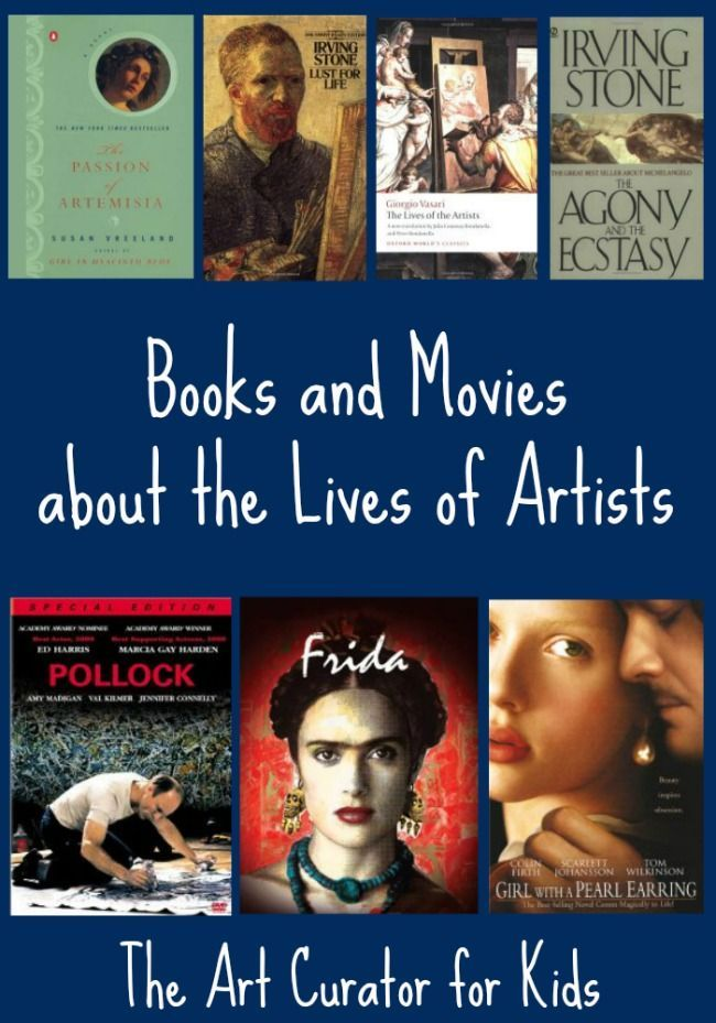 The Art Curator for Kids - Artist Biographies for Adults, Books and Movies - Michelangelo, van Gogh, Vasari, Artemisia Gentileschi, Frida Kahlo, Jackson Pollock