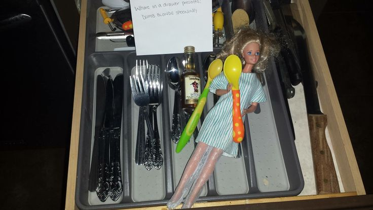 Whore in a Drawer Presents; Dumb Blonde Spooning!