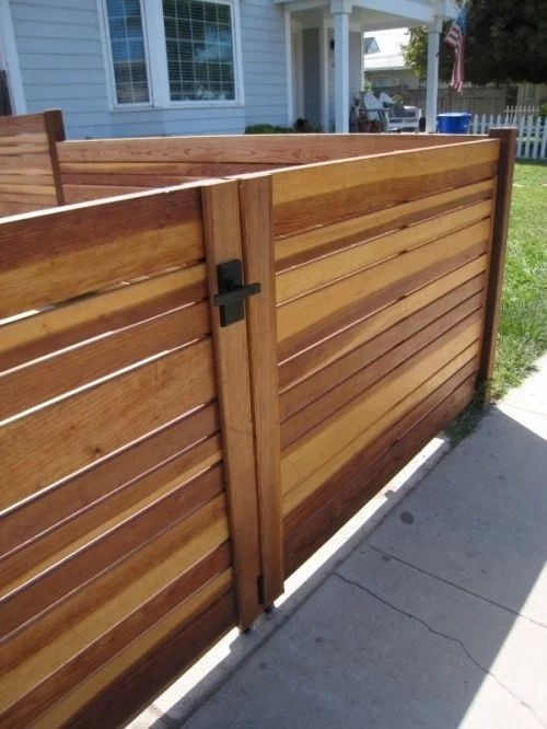"Encinitas Mid-Century Beach House Driveway Gate This project involved two driveway gates put up by the homeowners. We designed the Nero Latch for this project. The Nero is a lever gate latch, with the plate measuring 2.5""w x 5""h. Parts are made of stainless steel and aluminum, and everything is powder coated satin black.The latch is self-latching. The style of the latch lends itself to contemporary, traditional, and transitional projects."