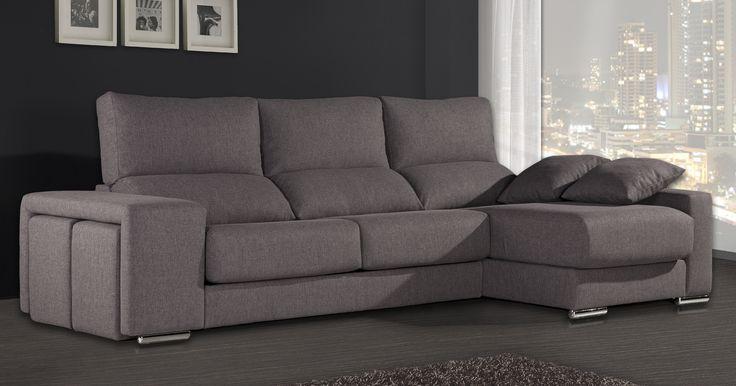Botero es un sofá moderno con chaiselongue y 2 poufs incorporados en un brazo. Comprar sofás baratos de Gamamobel ahora es muy fácil desde nuestra shop on line de sofás de calidad y baratos.