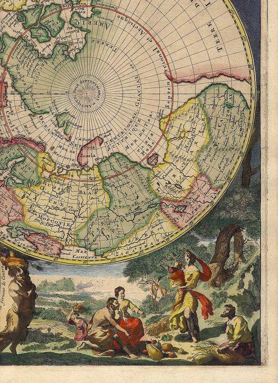 295 best Use a map images on Pinterest Vintage maps, Antique maps - new antique world map images