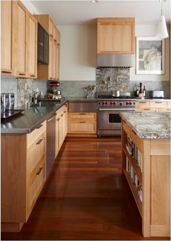 Andre Rothblatt Architecture   Kitchens   Maple Kitchen Cabinets, Maple  Cabinets, Stainless Steel Countertops, Two Tone Countertops, Granite.