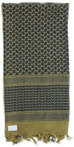 Premium Heavyweight Military Desert Shemagh Scarf with ARMY UNIVERSE Pin -  Coyote Brown   Black e8d3d11da9