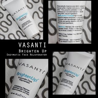 MichelaIsMyName: VASANTI BrightenUp Enzymatic Face Rejuvenator REVI...