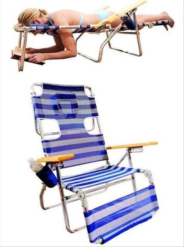 Reader's lawn chair