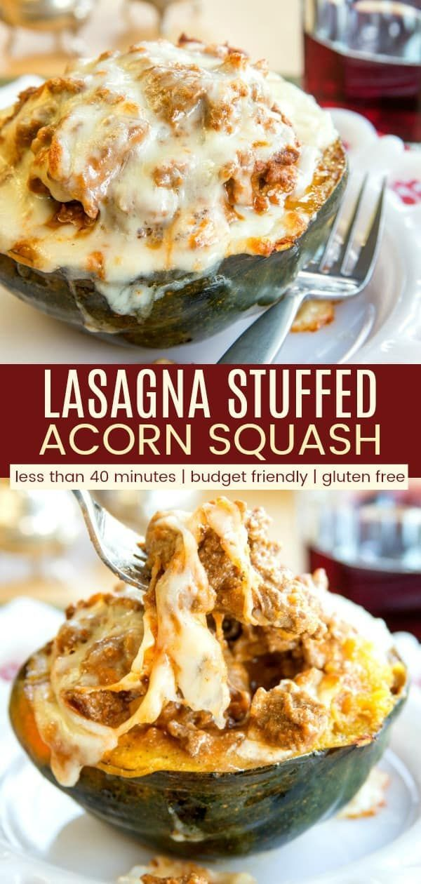 Lasagna Stuffed Acorn Squash Roasted Squash Is Filled With A