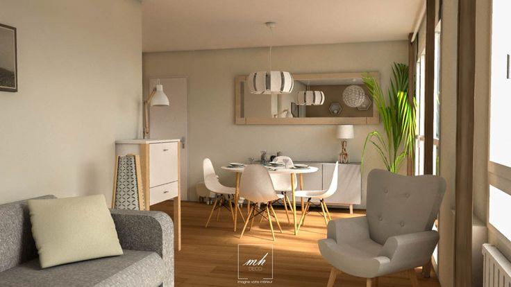 optimiser l'espace salle à manger   mes conception 3d   pinterest ... - Renovation Sejour Salle A Manger