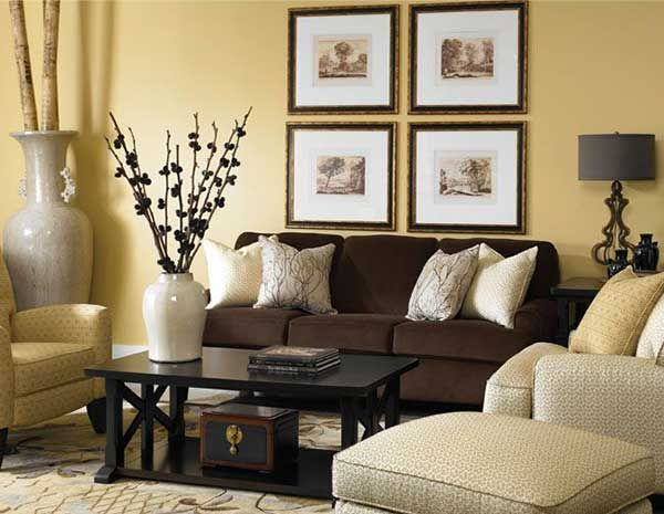 One Brown Sofa 10 Different Decorations Home Decoration Trends Brown Couch Living Room Brown Living Room Decor Living Room Paint