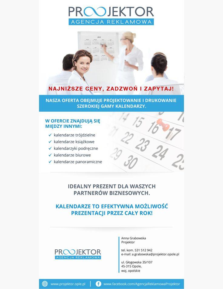 Agencja Reklamowa Opole. Oferta kalendarze 2015. www.projektor.opole.pl