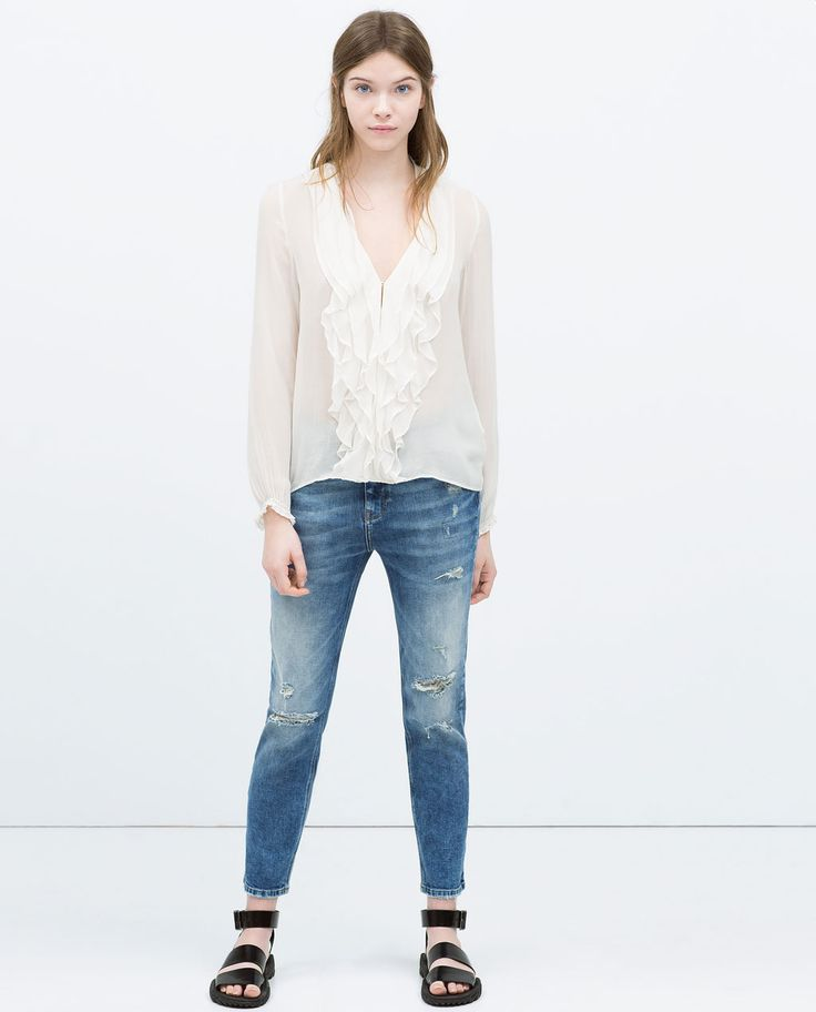 Image 1 of FRILLY SHIRT from Zara