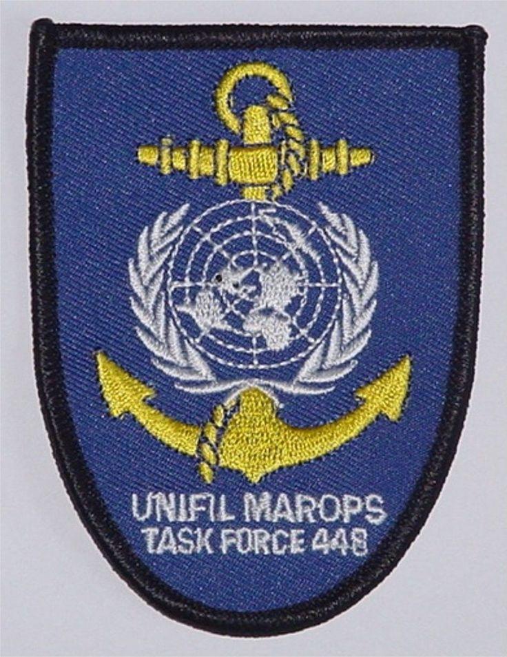 Aufnäher Patch Marine UNIFIL MAROPS Task Force 448