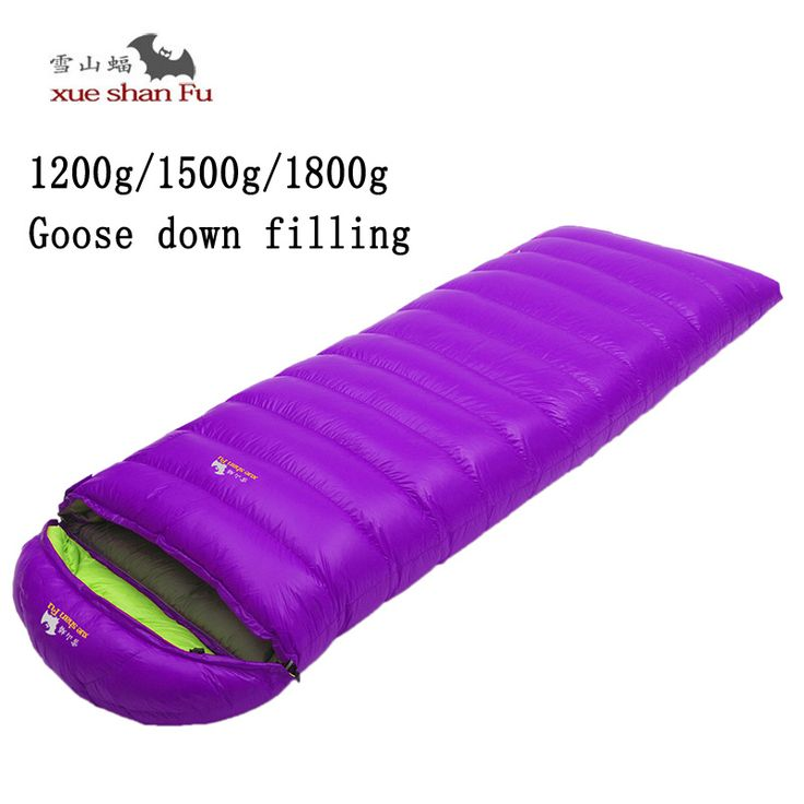 New arrival high quality 1200/1500/1800g white goose down filling outdoor camping comfortable breathable sleeping bag