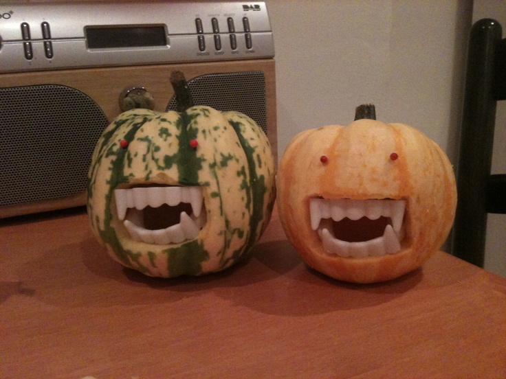 Fanged Pumpkins as seen on Martha Stewart!