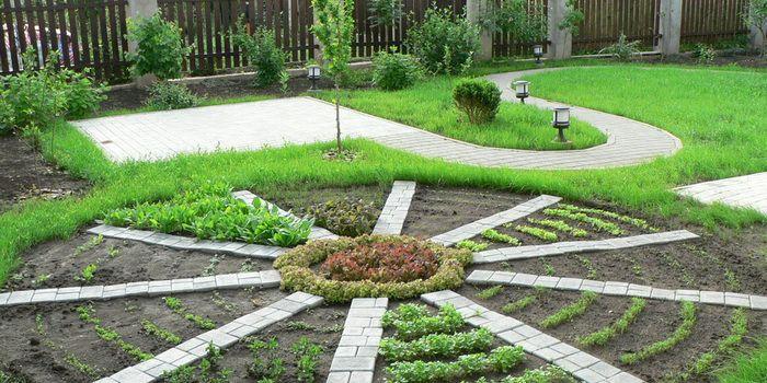 Зеленая комната в саду: планировка ландшафтных элементов участка 12 соток