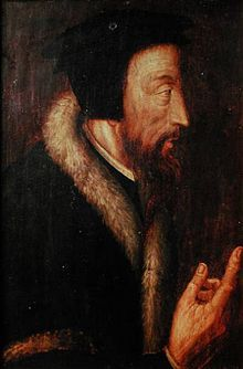 Sixteenth-century portrait of John Calvin (https://en.wikipedia.org/wiki/John_Calvin) by an unknown artist. From the collection of the Bibliothèque de Genève (Library of Geneva)
