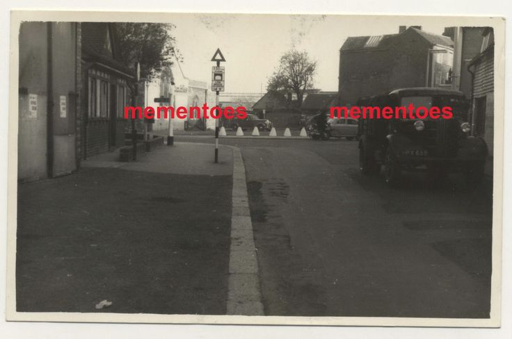 Lewes Sussex c1940s WWII RP Postcard South Street Junction Cliffe High St Lorry