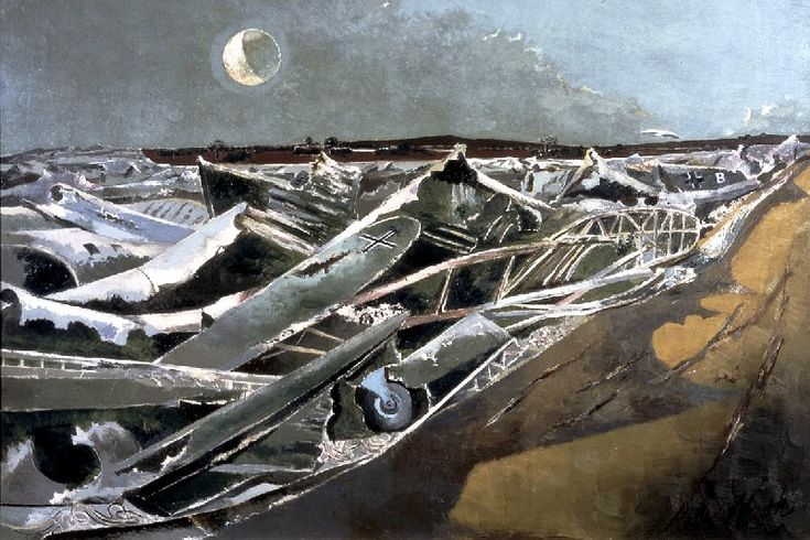 If pushed, I would say he was my favourite painter. Paul Nash