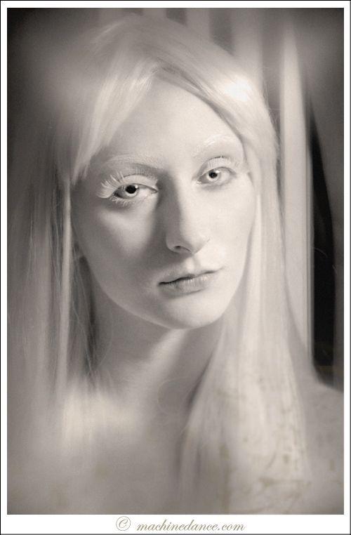 beautiful albino woman