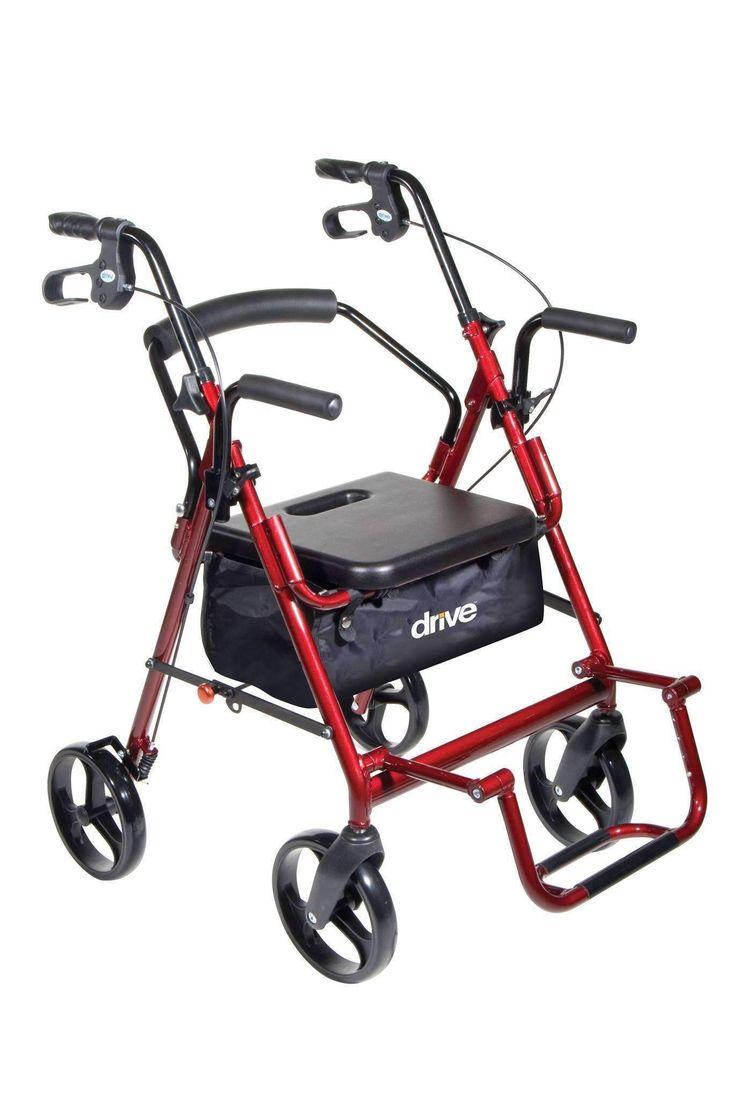 Drive Medical 795 Duet Rollator/walker transport chair combo