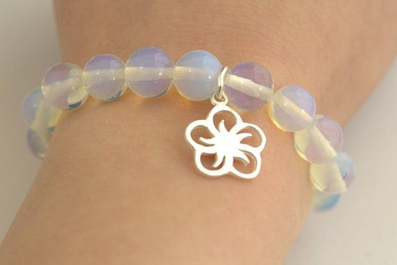 Opal Beaded Bracelet for Women with Sterling by MoniqueUniquely