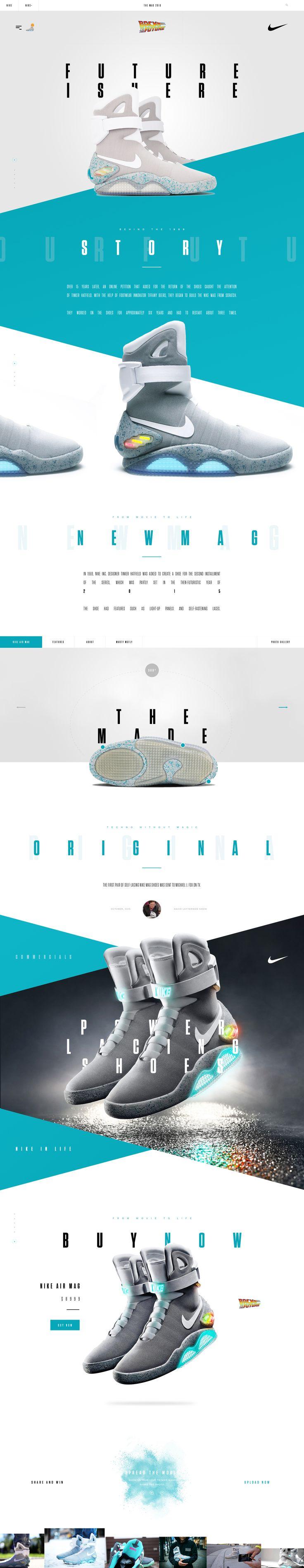 Nike Air Mag. #webdesign #ui