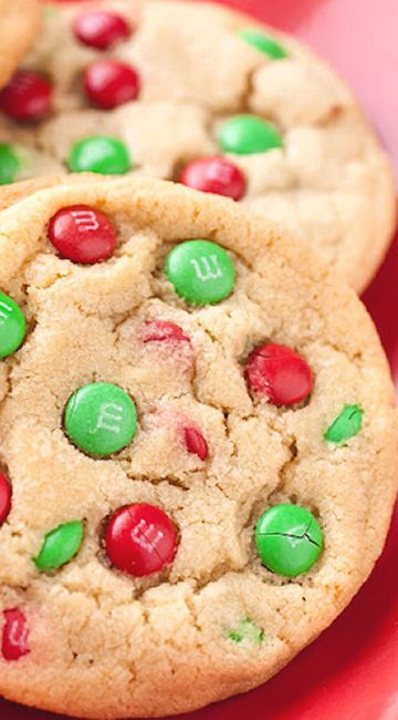 M&M Cookies (Christmas Style)
