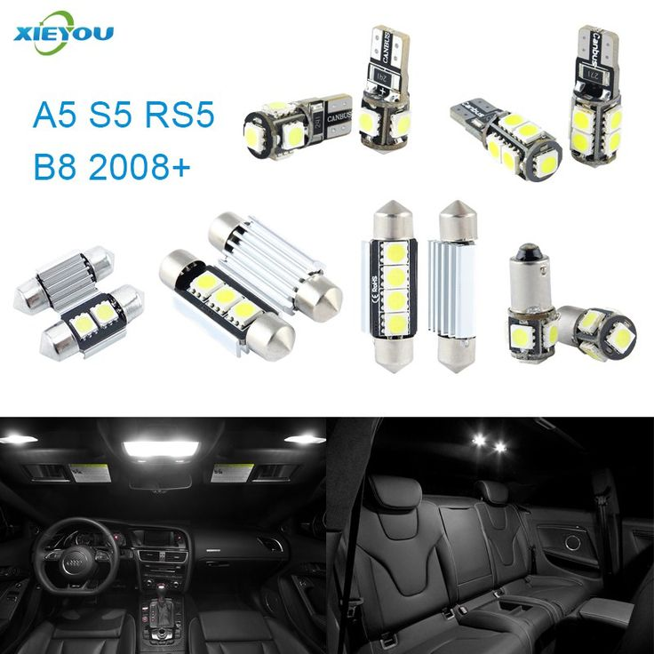 Cheapest prices US $17.40  XIEYOU 12pcs LED Canbus Interior Lights Kit Package For Audi A5 S5 RS5 B8 (2008+)