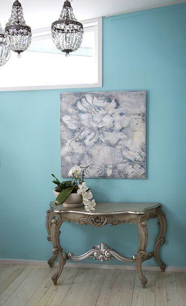 Grand Flora colour Blue/grey size 900mm x 900mm