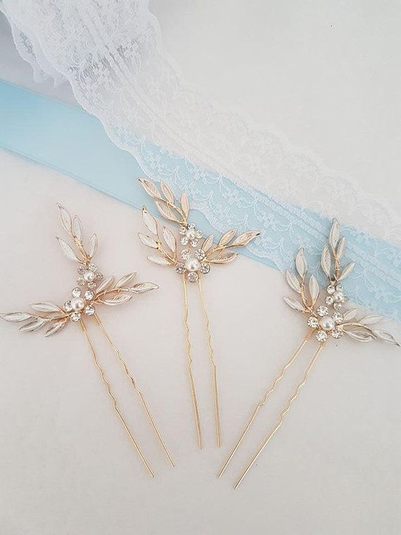 f285d8911ce0 Rose gold blush 1pcs hair pins-wedding-Bridal hair accessories ...