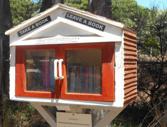 Book exchange 'house' at Second Valley, South Australia. What a brilliant idea! It's right by the caravan park, store, and beach.