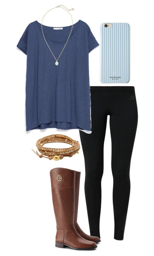"""""""Prayers for Paris """" by madelyn-abigail ❤ liked on Polyvore featuring NIKE, Zara, Tory Burch, Kendra Scott, Isaac Mizrahi and Chan Luu"""