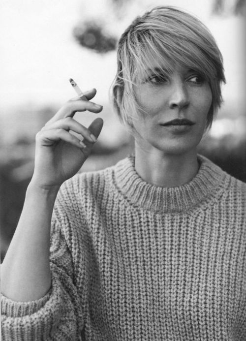 Julia Davis comedian, writer, actor and wearer of divine cable knits.